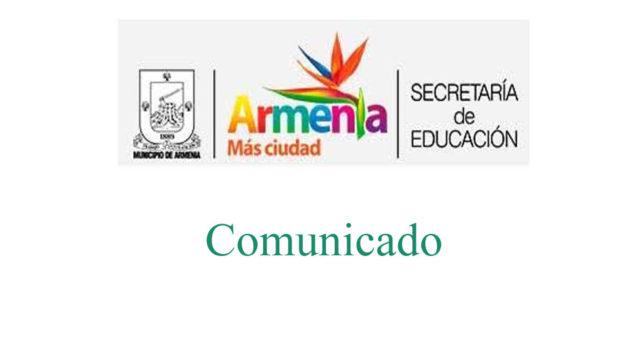 Comunicado Secretaria de Educación